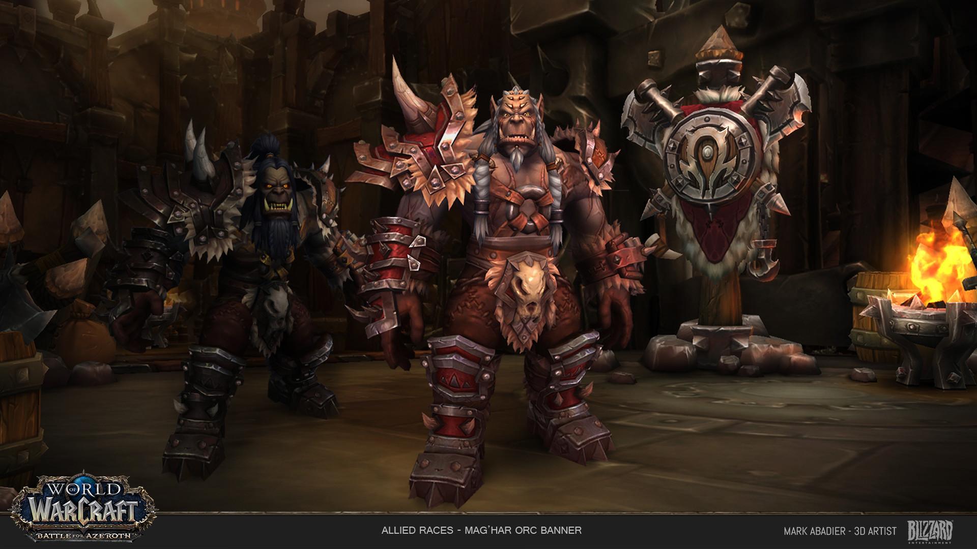 ArtStation - Allied Race - Mag'har Orc Banner, Mark Abadier