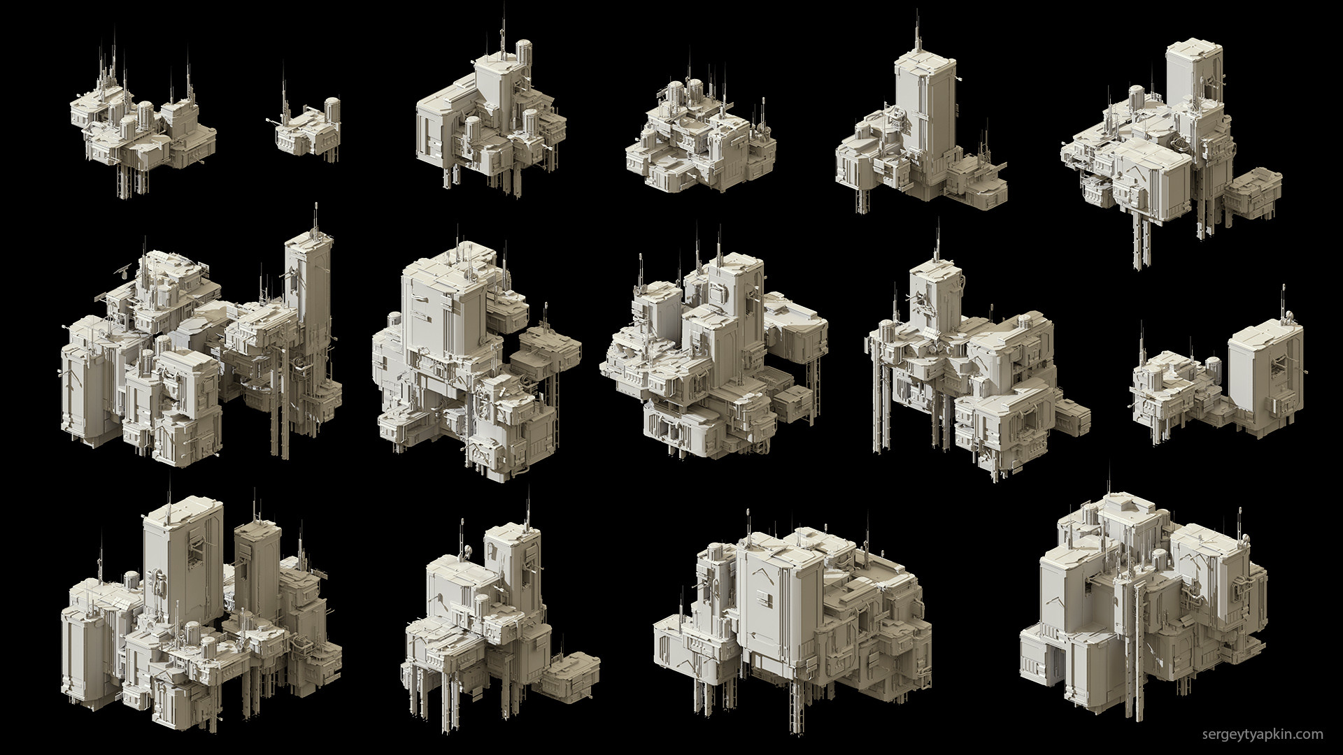 Sergey tyapkin buildings render 1