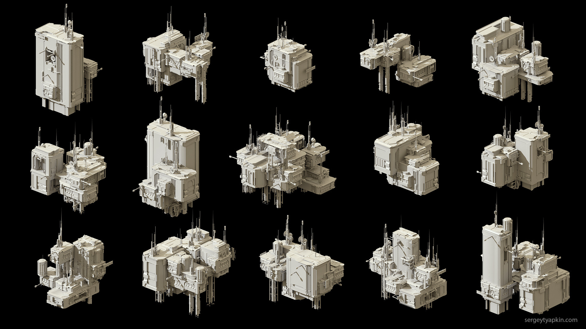 Sergey tyapkin buildings render 2