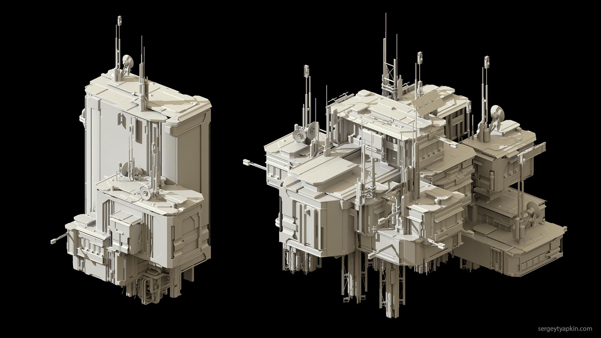 Sergey tyapkin buildings render 3