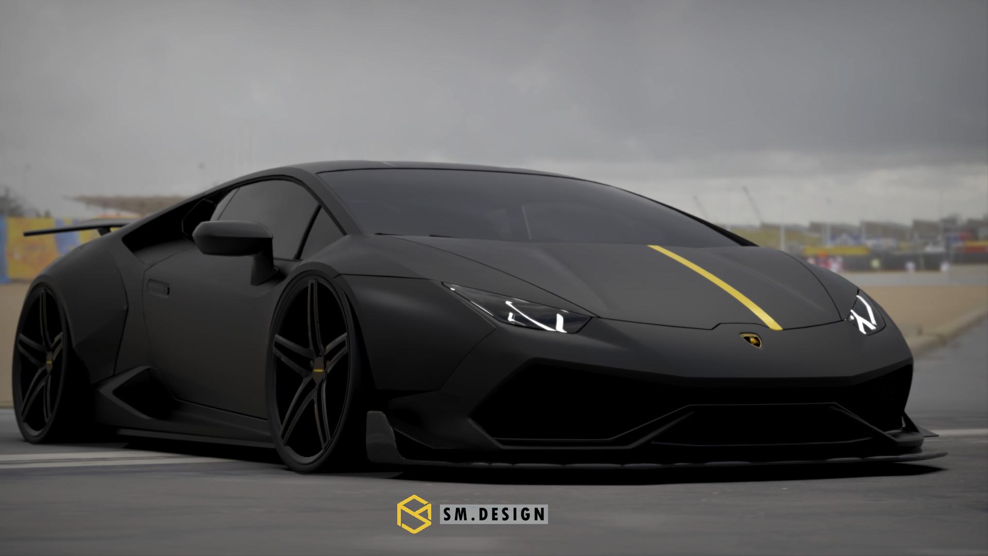 Sm Design Liberty Walk Lamborghini Huracan On Vossen Wheels
