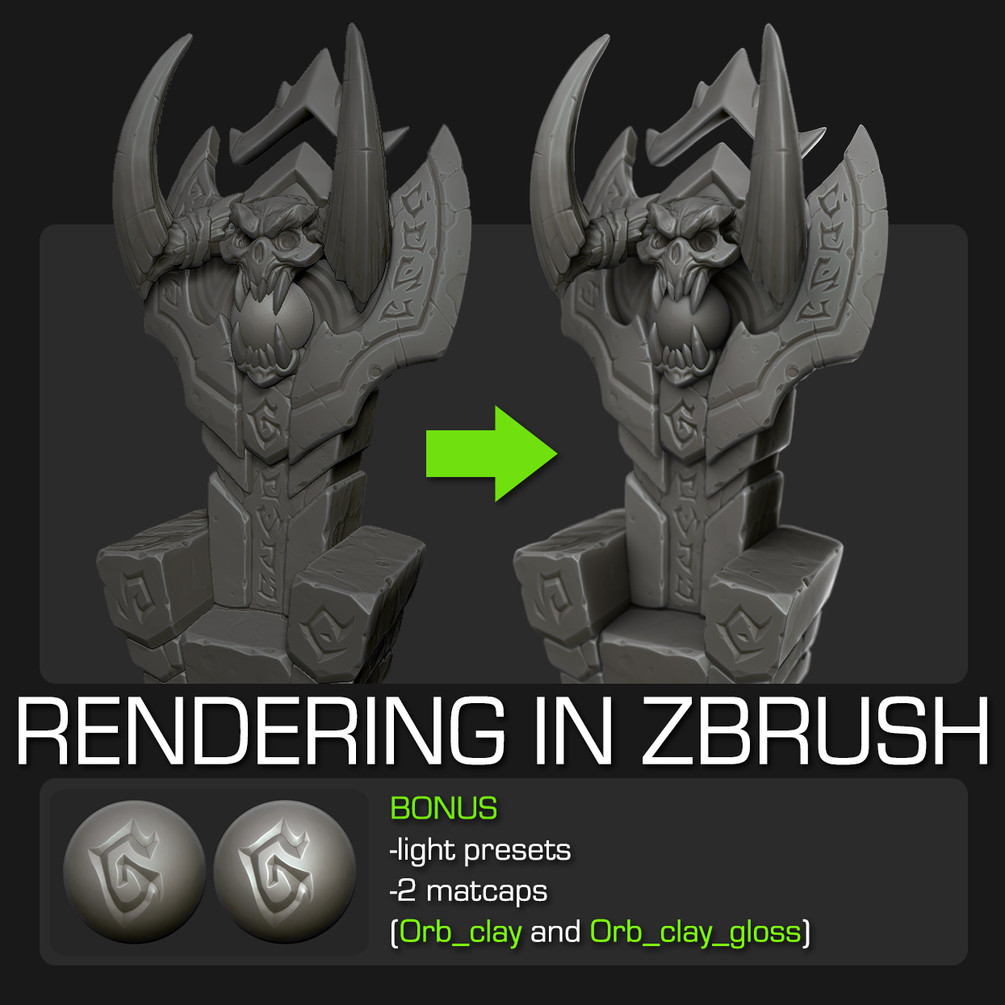 ArtStation - Zbrush rendering tutorial, Michael vicente - Orb