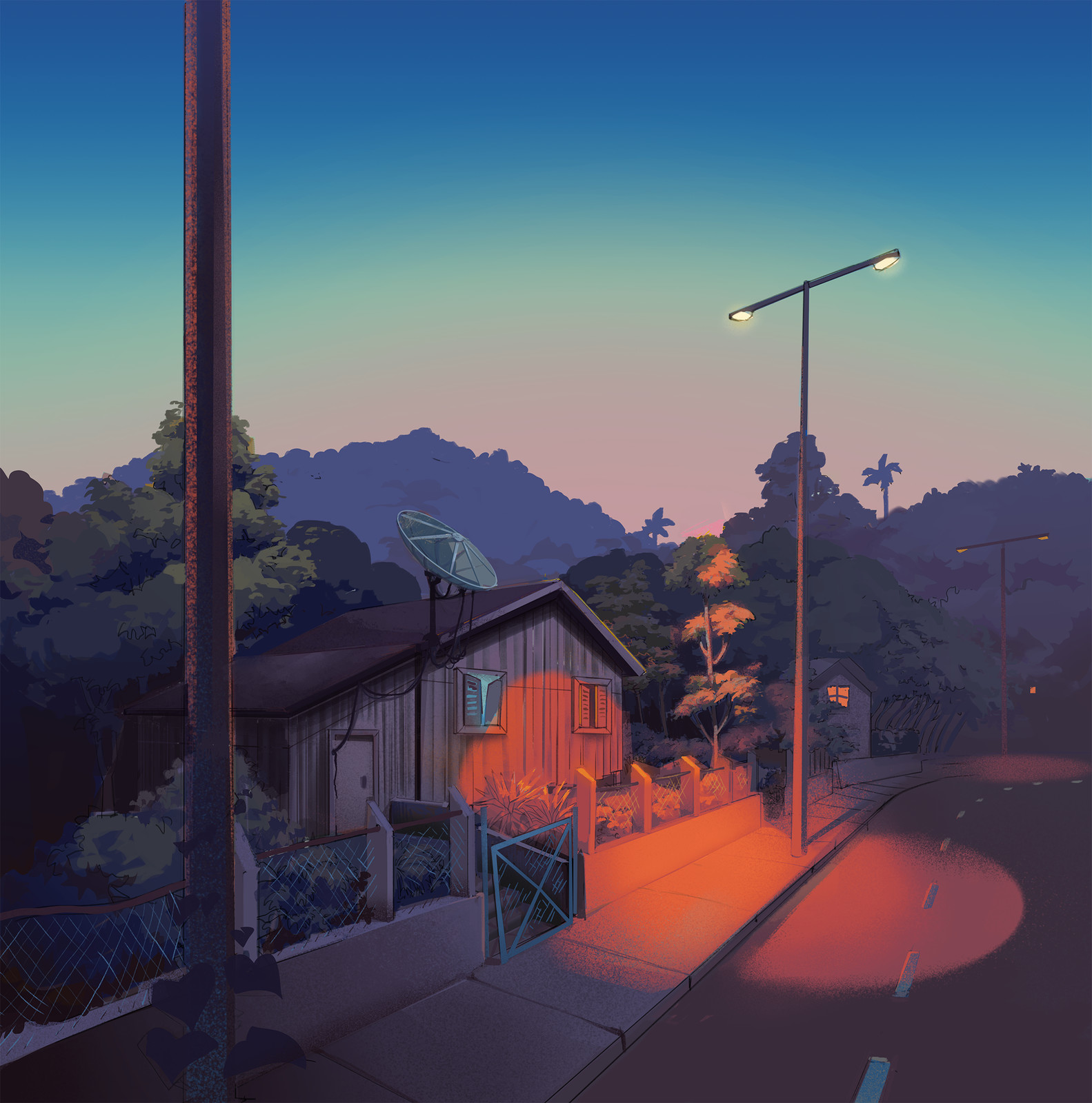 background for first panel of our comic