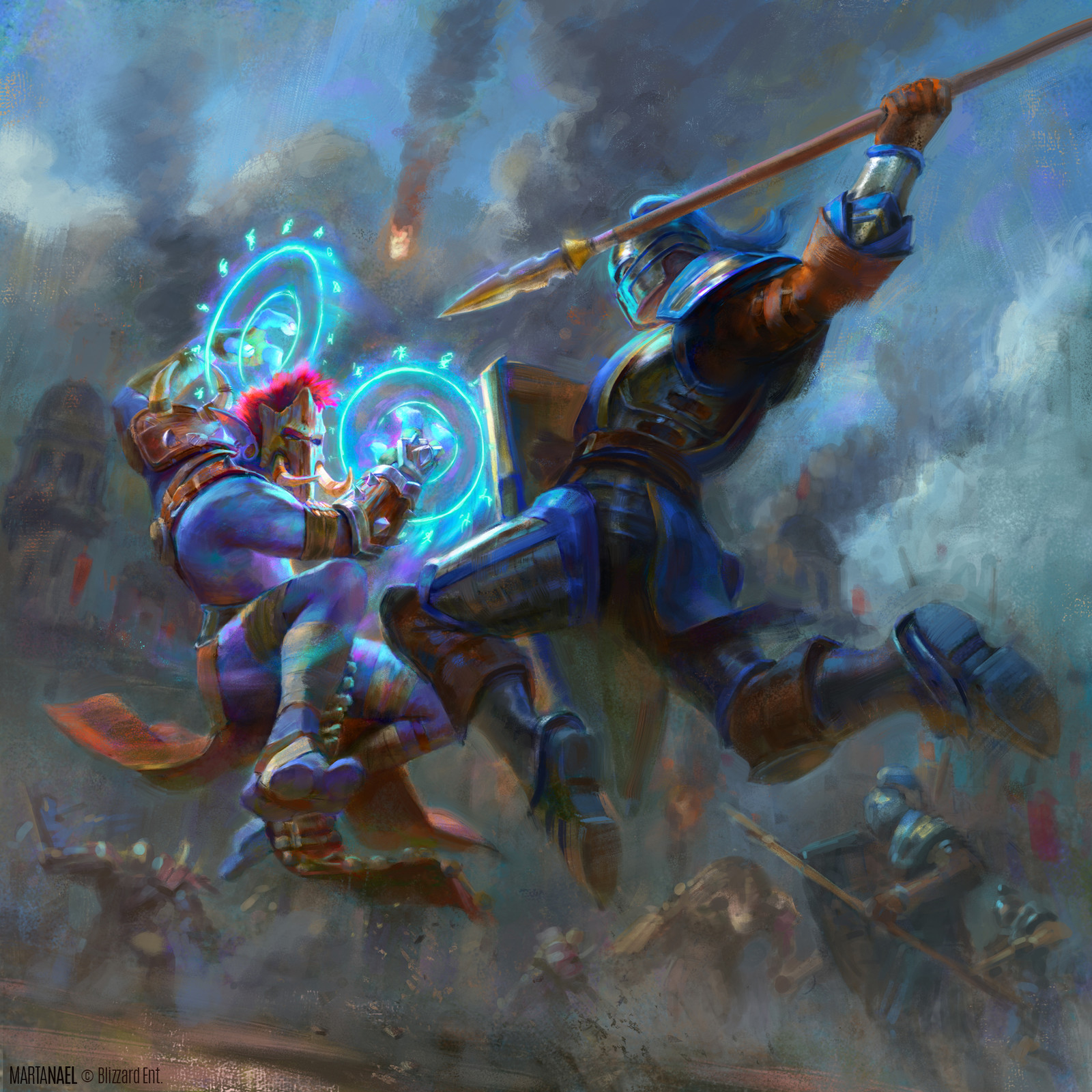 Troll vs Footman warrior - Battle for Azeroth promo art