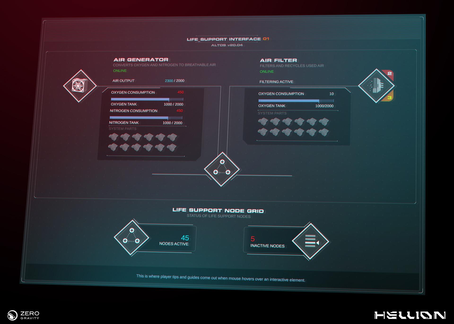 ArtStation - Life Support / Power Supply UI Concept, Nenad