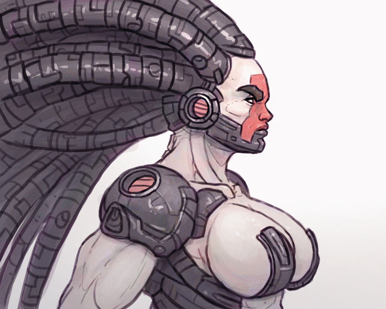 Chema samaniego concept armor hair 1