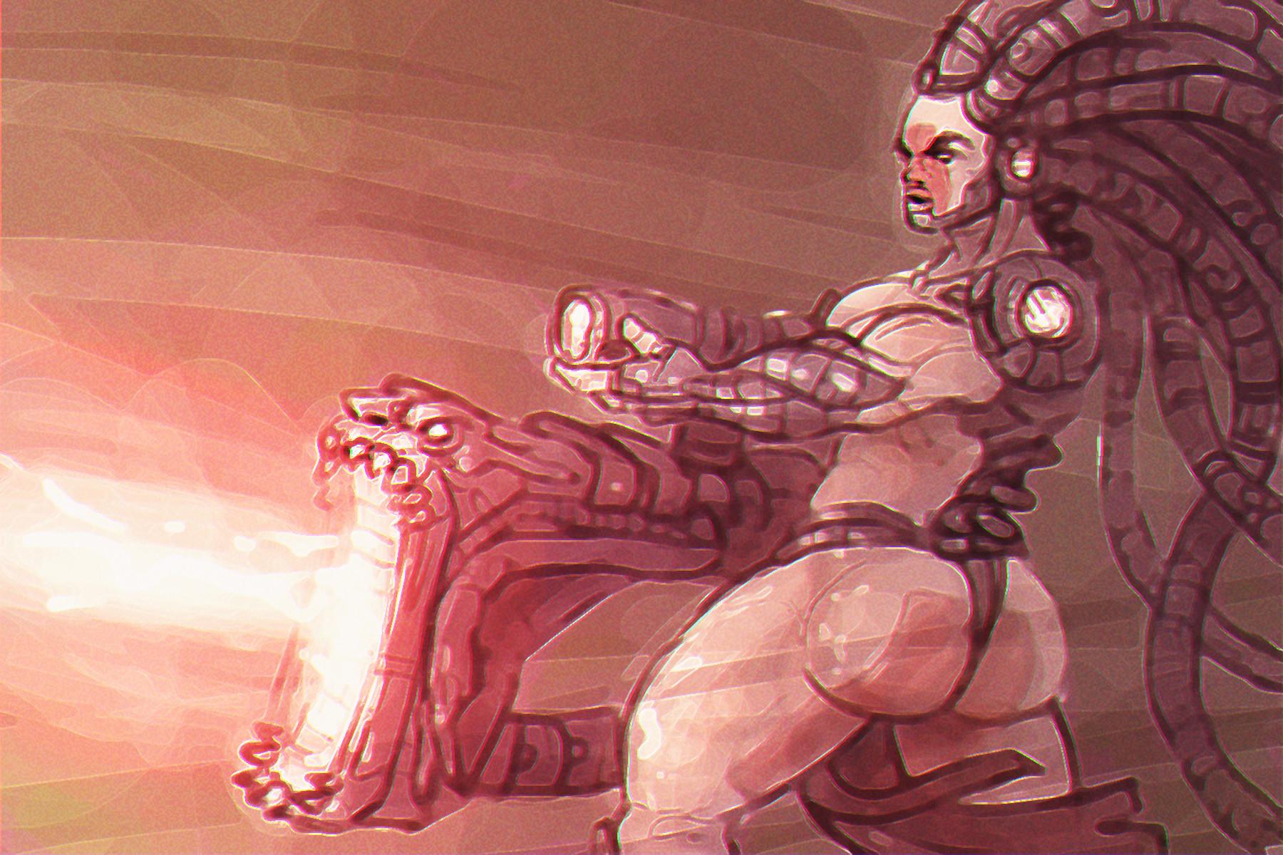 Chema samaniego concept armor hair 3