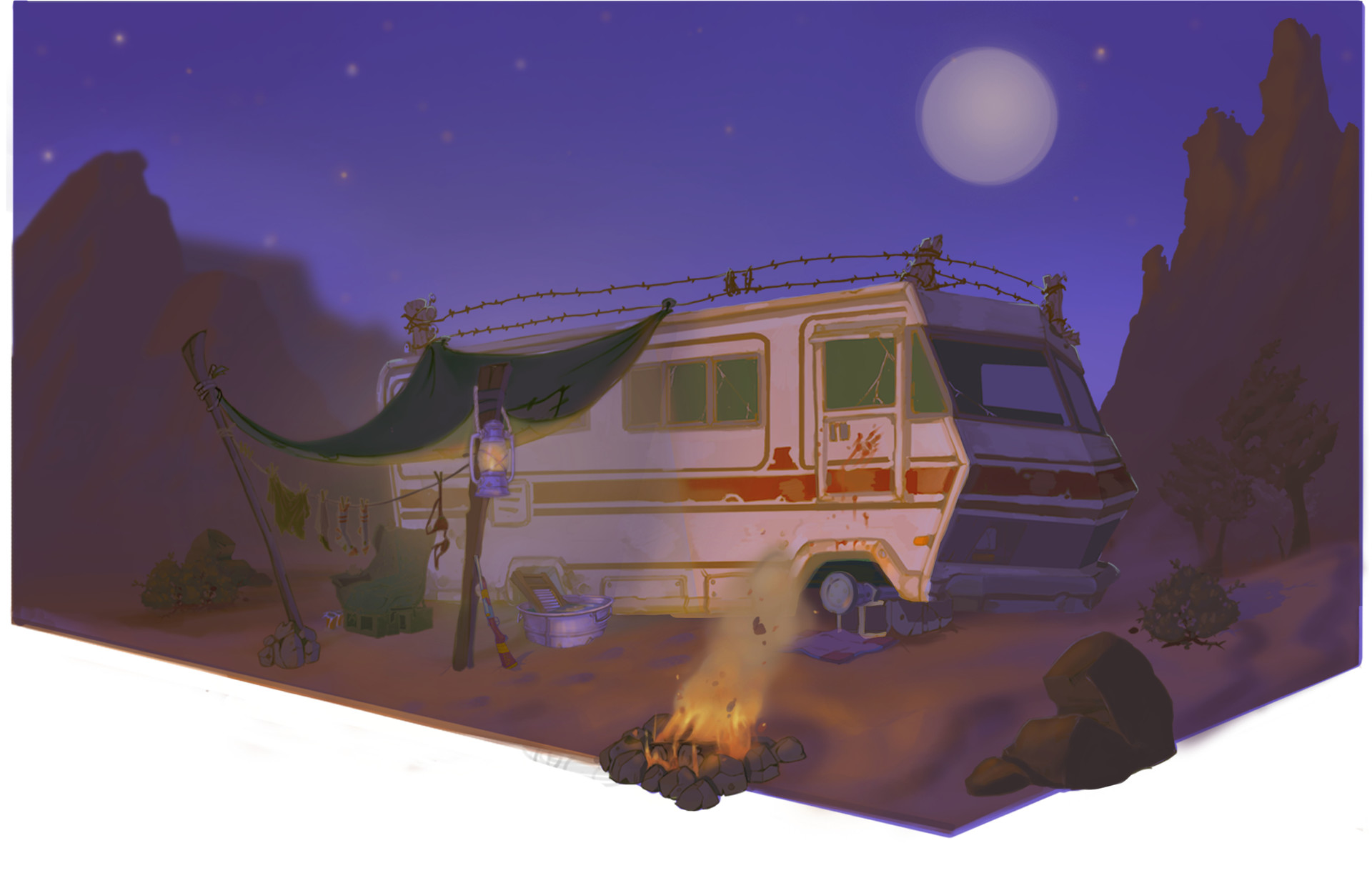 Brent poliquin rv night time