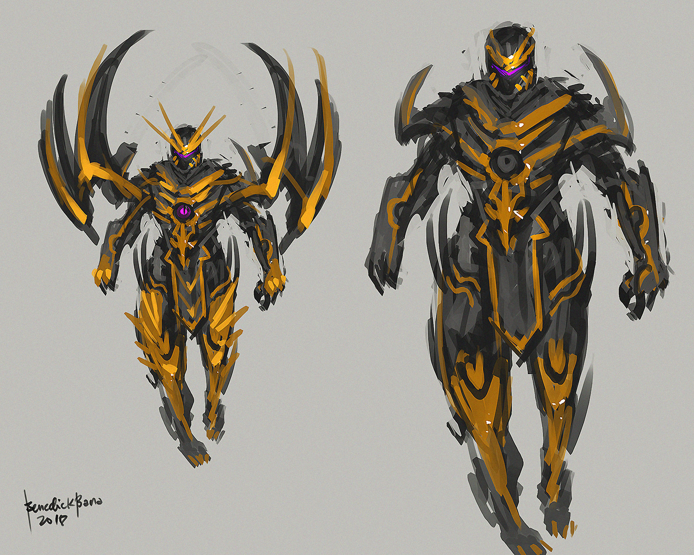 Benedick bana fanart thanos full armor 02 lores