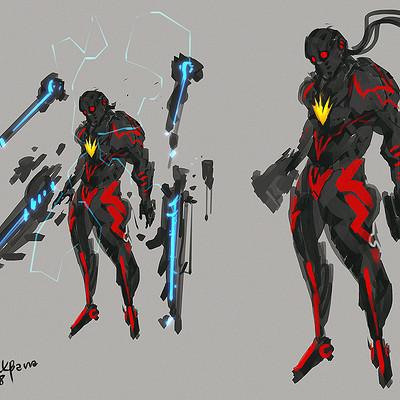 Benedick bana fanart starlord dark destroyer armor lores