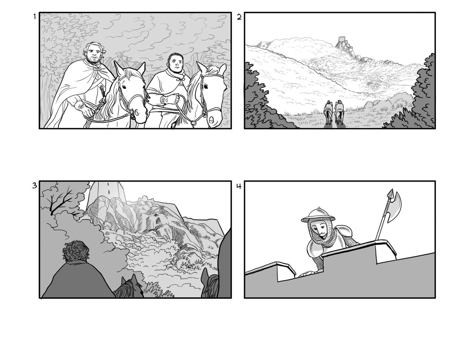Storyboard made for a web video for the Occitanie region/county in France - Page 1 - (In French)