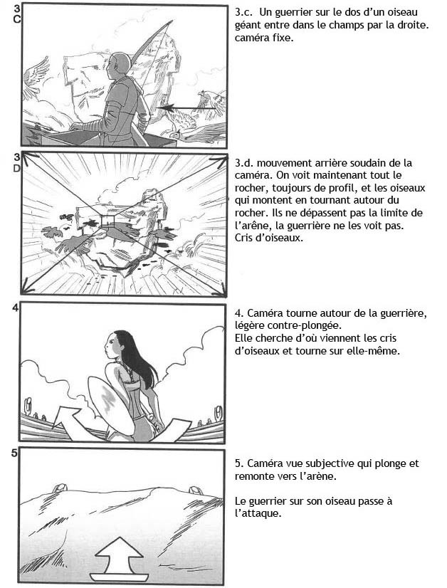 Storyboard for a Fantasy short. Live action with 3D Backgrounds - Page 2 - (In French)
