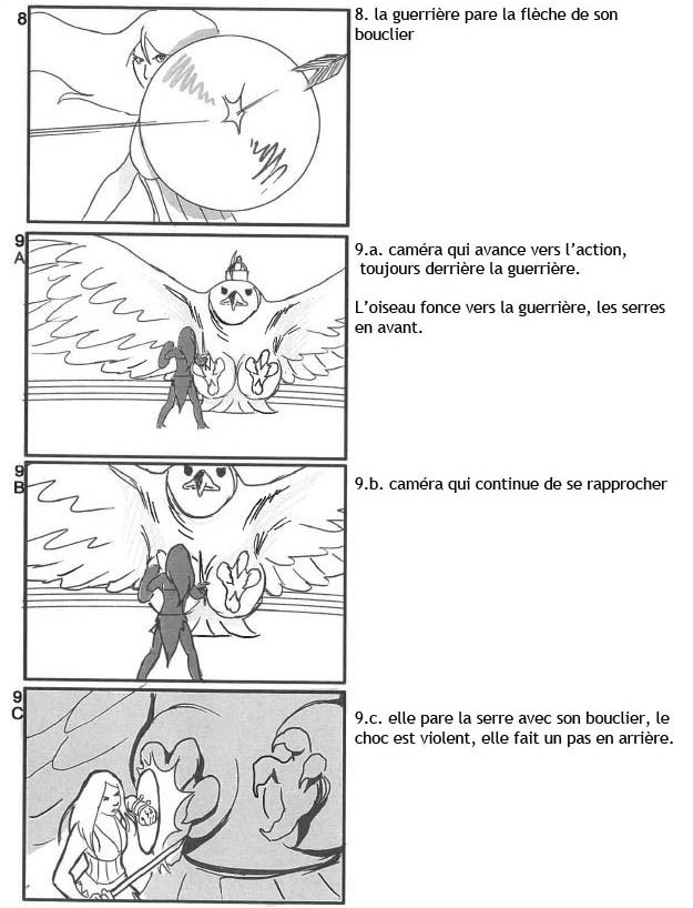 Storyboard for a Fantasy short. Live action with 3D Backgrounds - Page 4 - (In French)