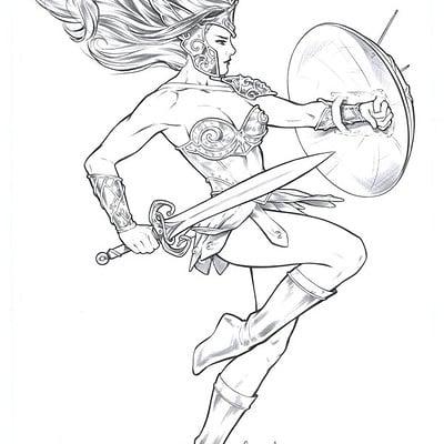 Elias chatzoudis warrior woman pencils by elias chatzoudis dapnu0s