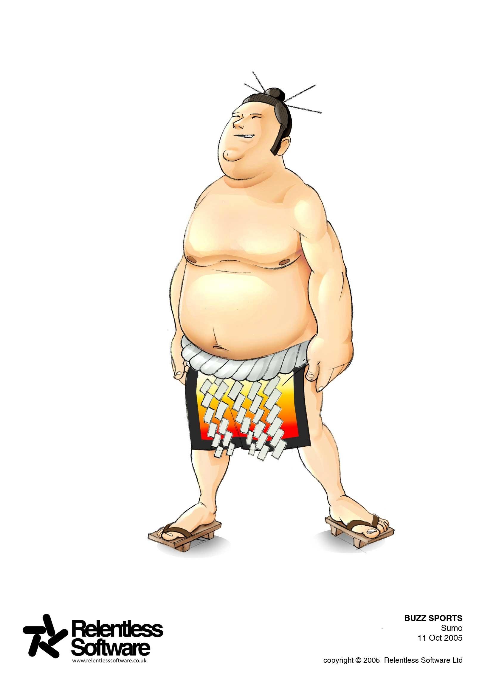 Sumo Wrestler player concept for BUZZ Game.