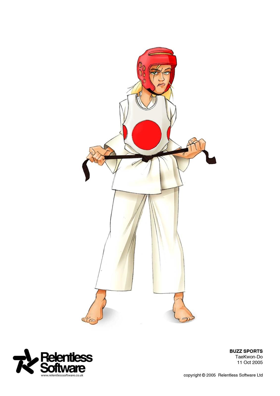 Taekwondo concept for BUZZ Game.