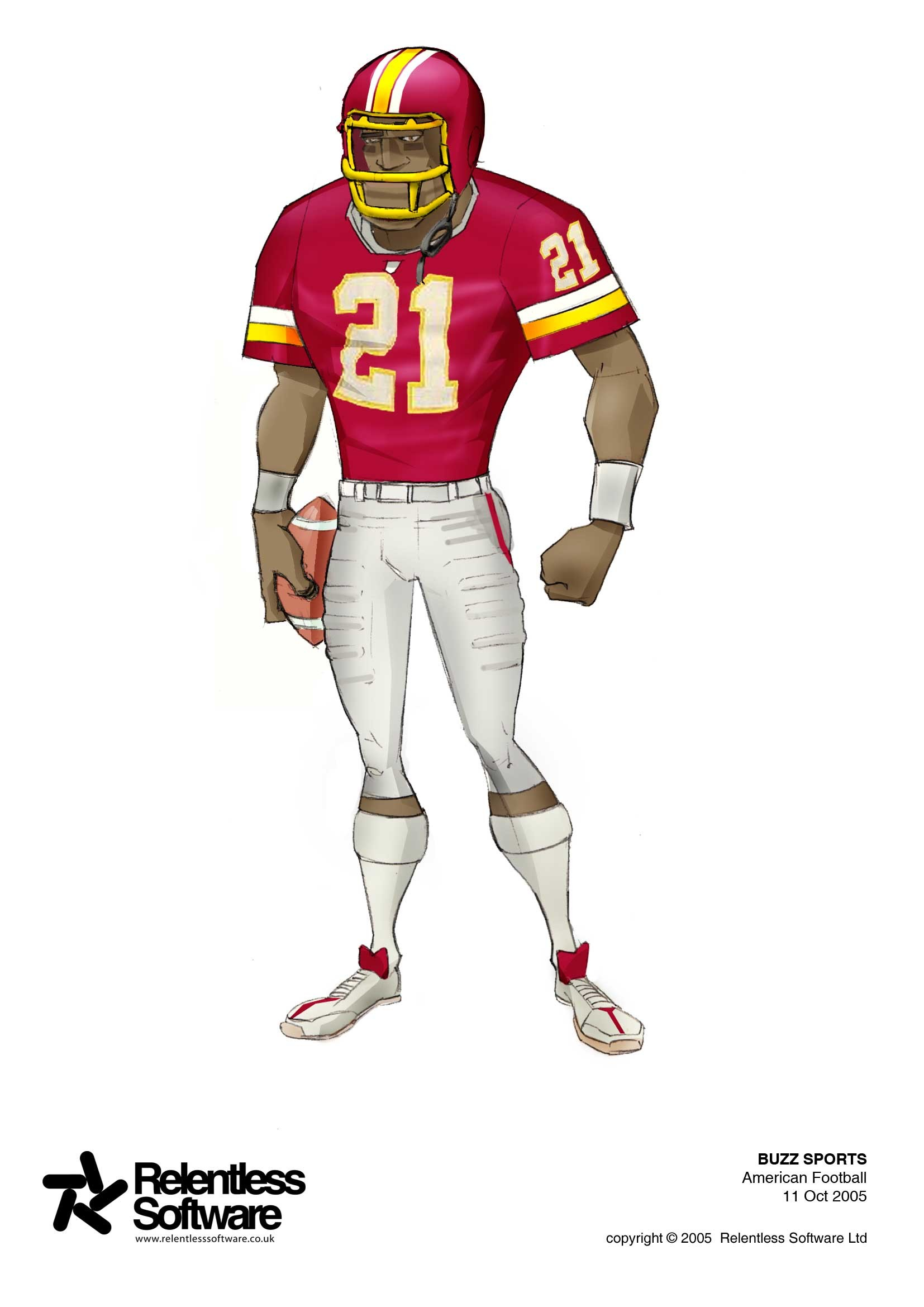 Gridiron player concept for BUZZ Game.