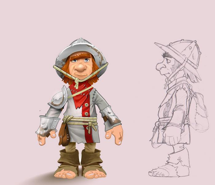 Knightwars Farmer Character concept