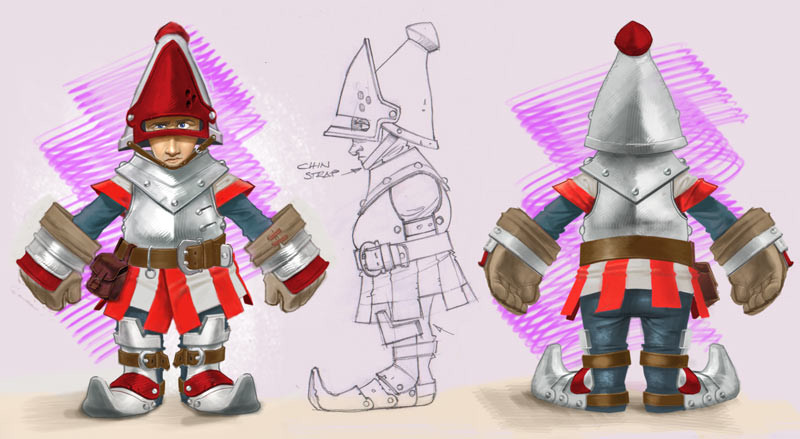 Knightwars Spearman Character concept