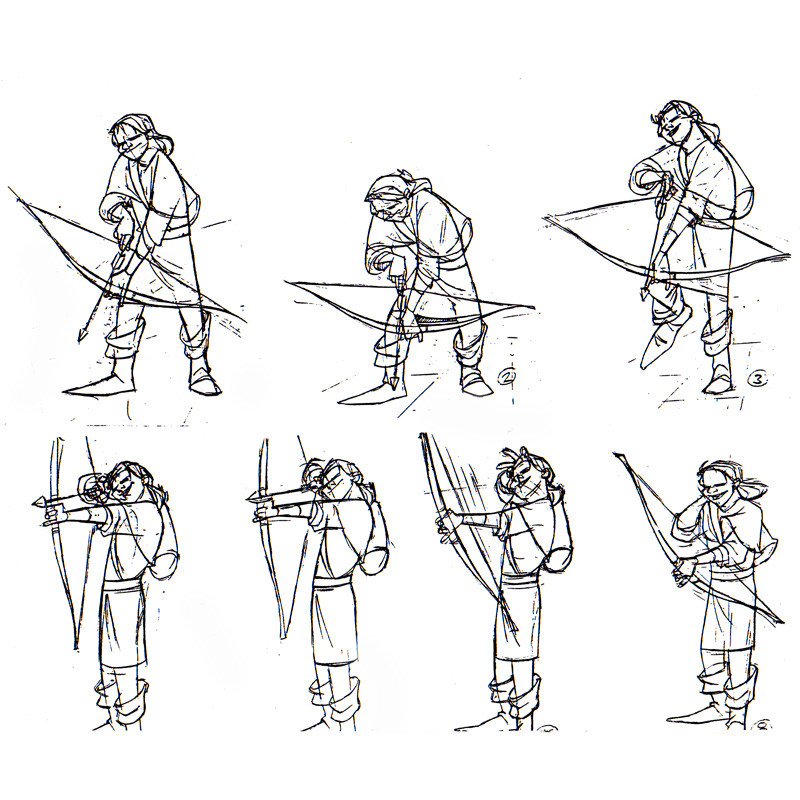 ArtStation - Animation frames model sheet, Colin Morrison