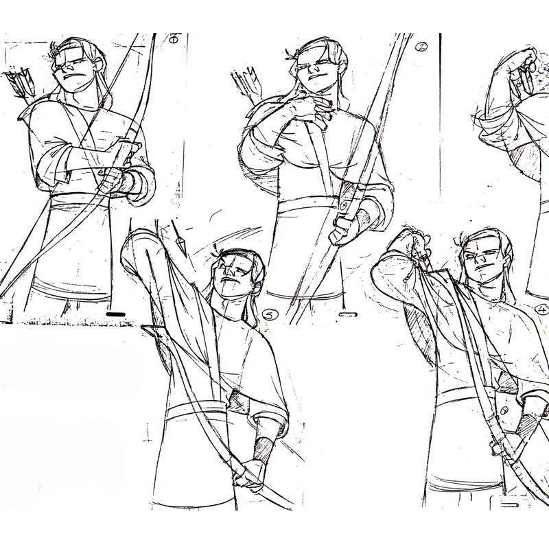 Animation frames model sheet