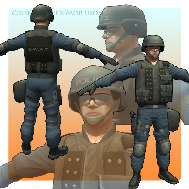 Military character - Lowpoly