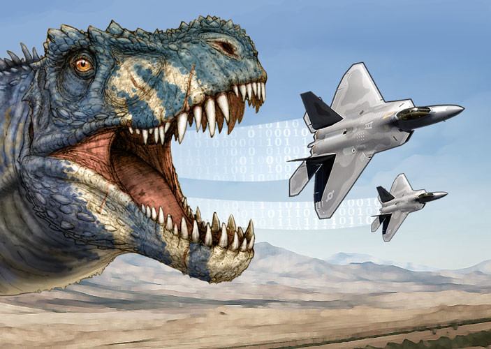 Dinosaurs and fighter jets? Yes, sir!
