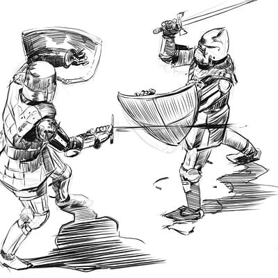 Mateusz michalski knigh sketch daily7