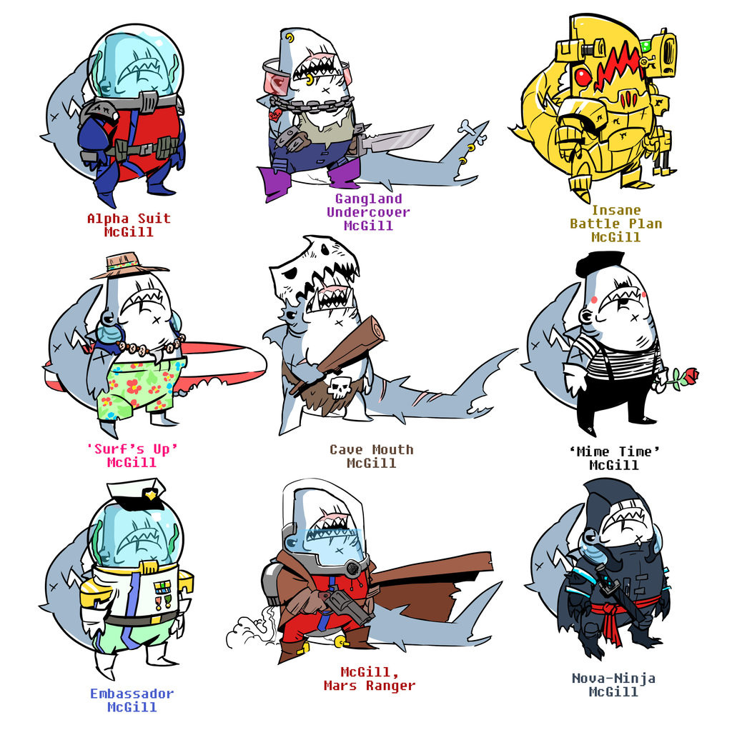 Thomas o halloren the many outfits of shark mcgill by dogmeatlives dbzkbb4