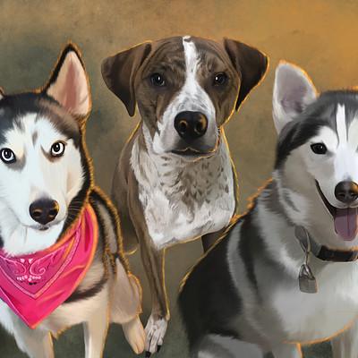 Rye adriano kim s dogs painting