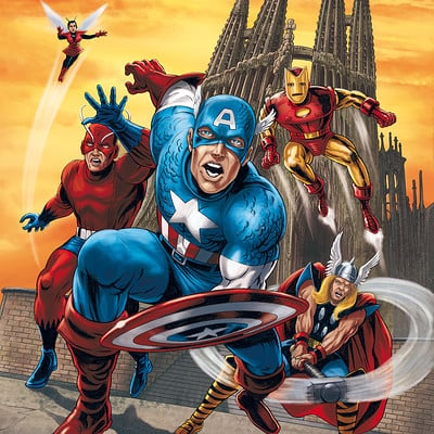 Mike ratera kirby avengers color