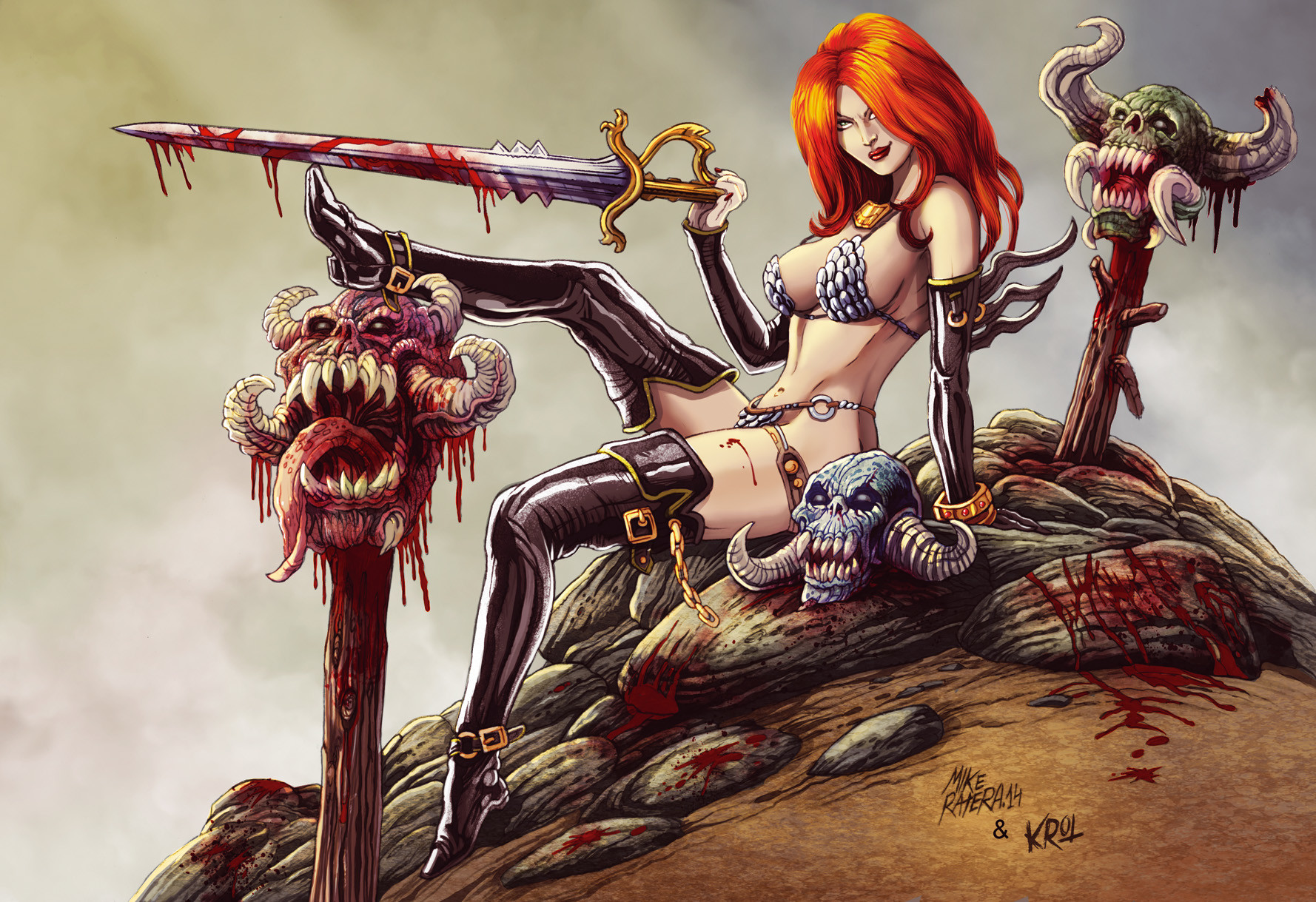 Mike ratera red sonja 23 color