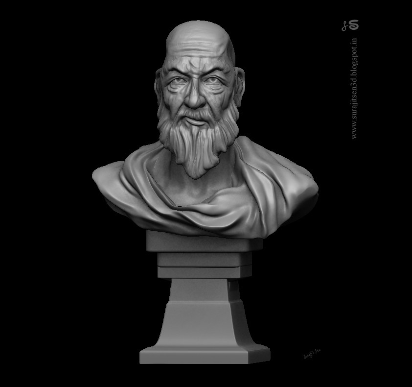 Surajit sen speed sculpt study teacher by surajit sen sculpt wip
