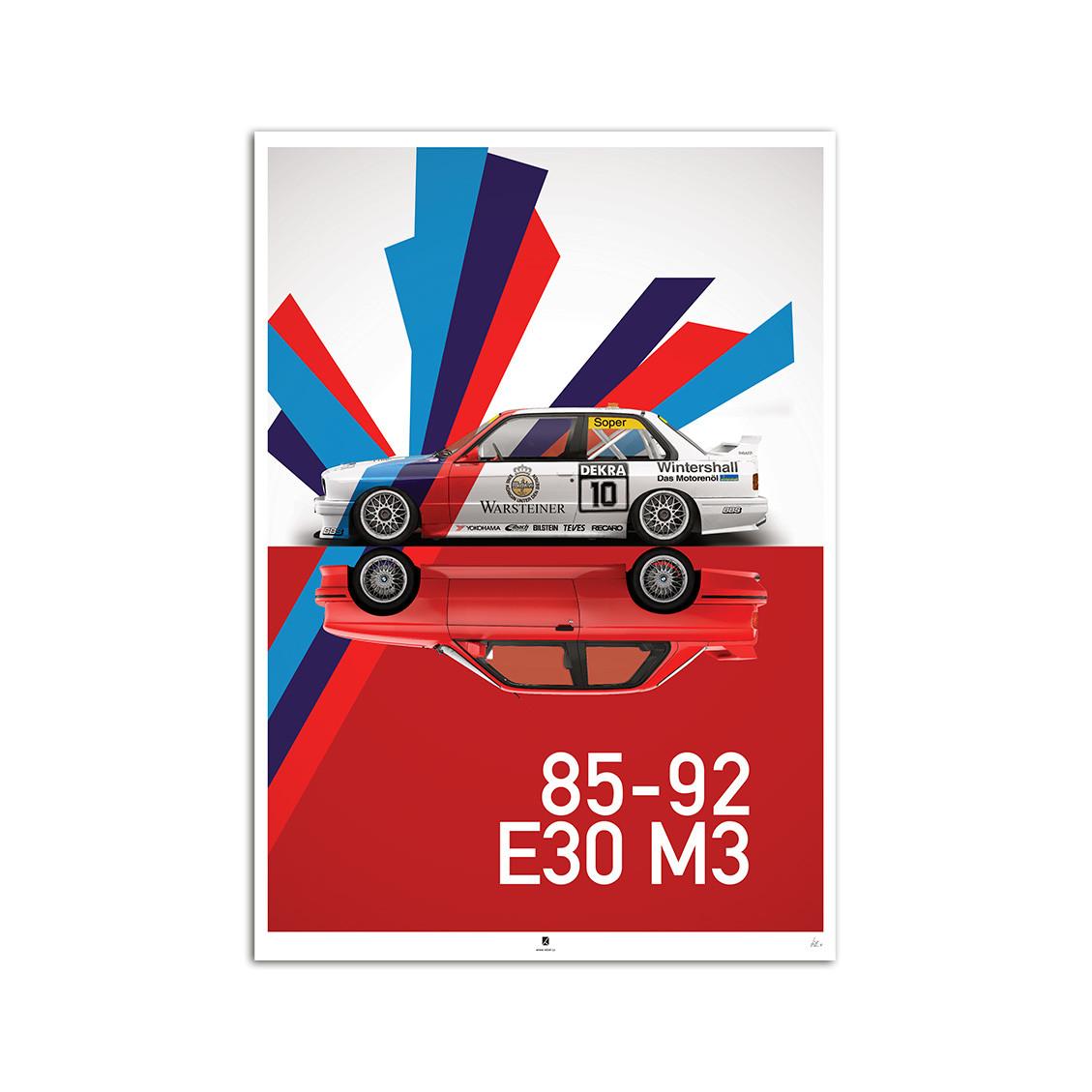 ArtStation - BMW E30 M3 poster series, Lubor Zelinka