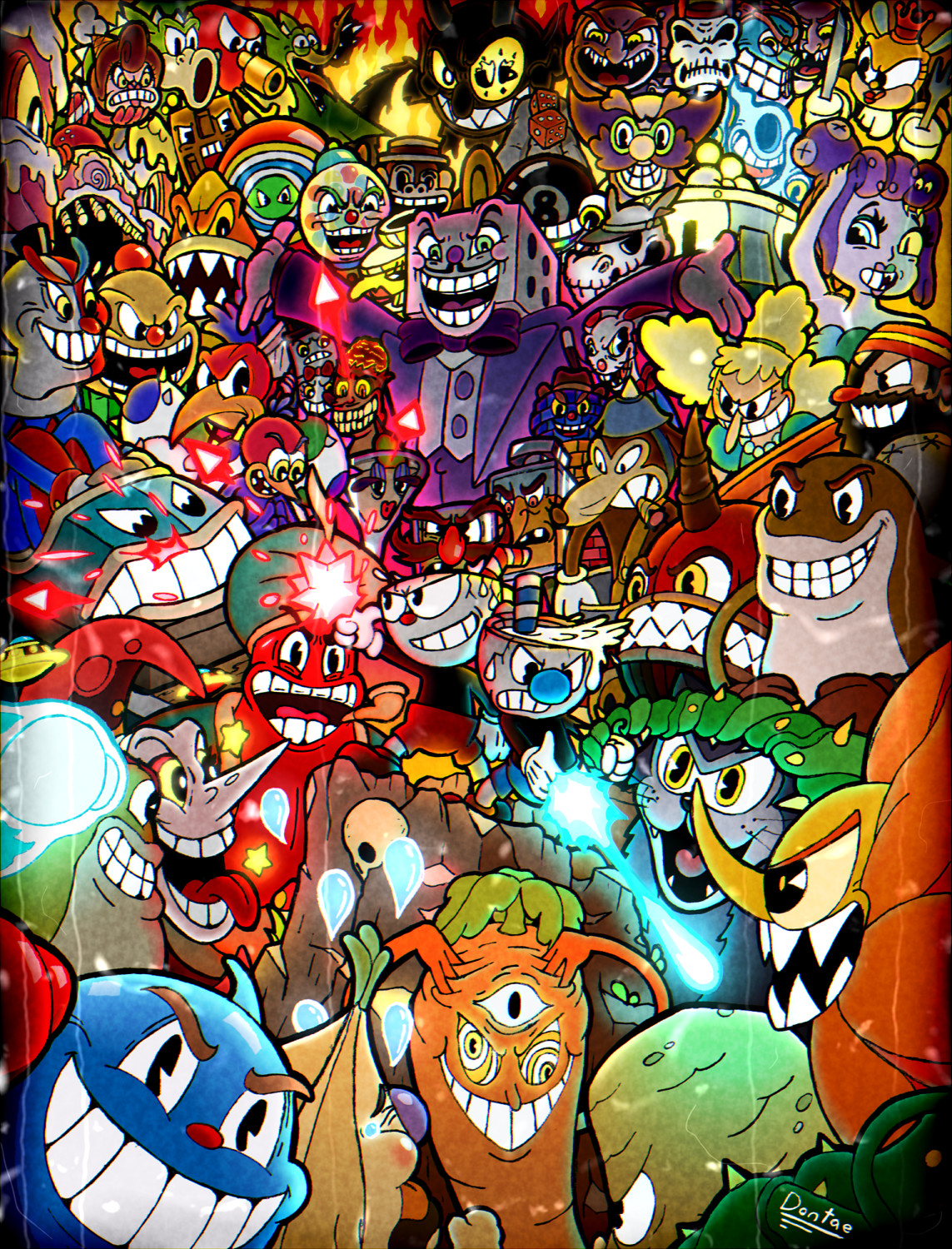 artstation cuphead with all bosses dontae rice