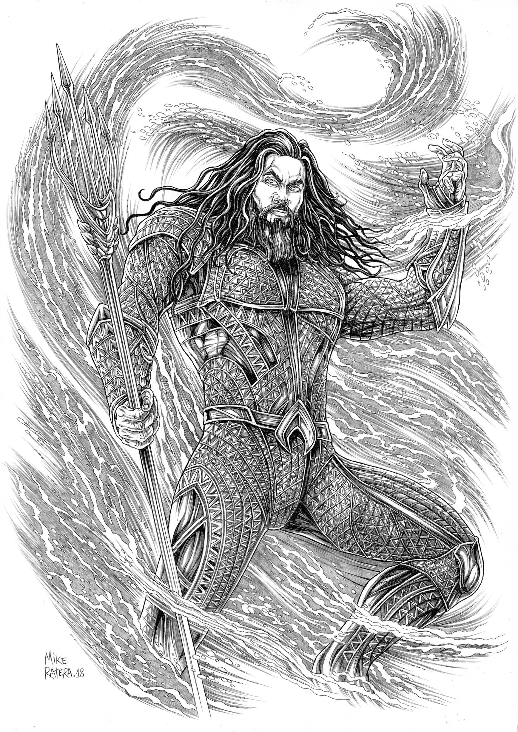 Mike ratera aquaman 1 a3 3