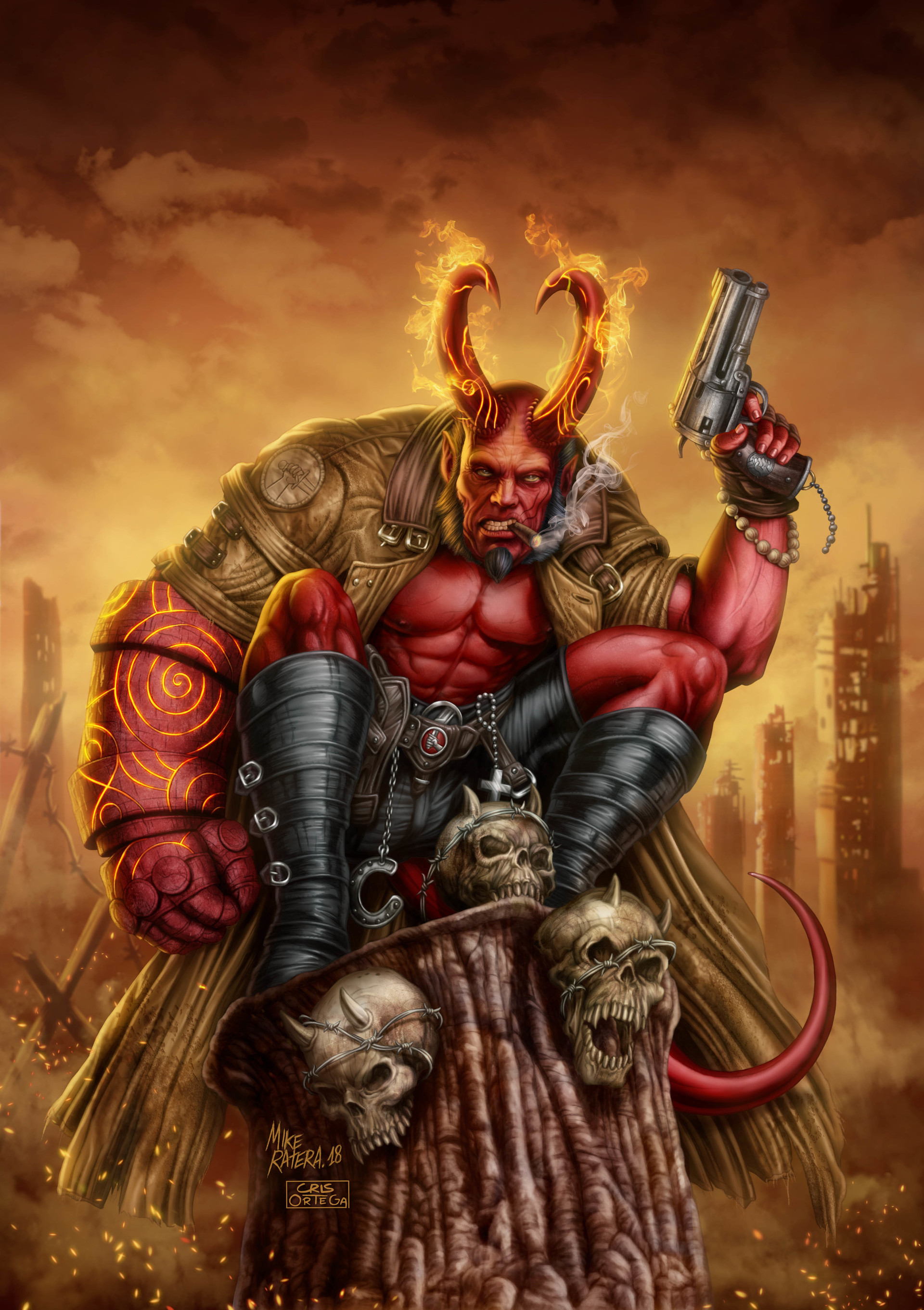 Mike ratera hellboy cover color