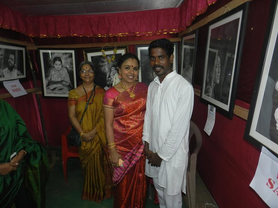 ArtStation - My Painting Exhibition carnatic classical Singer Sudha