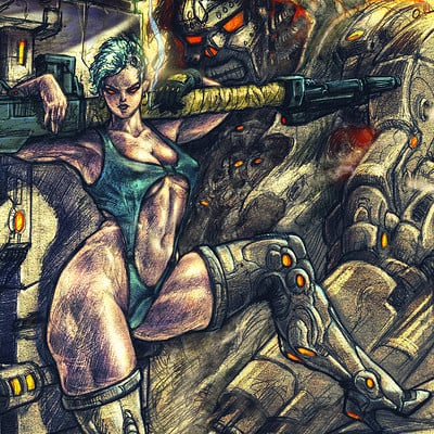 Atom cyber hubrid mercenary cover