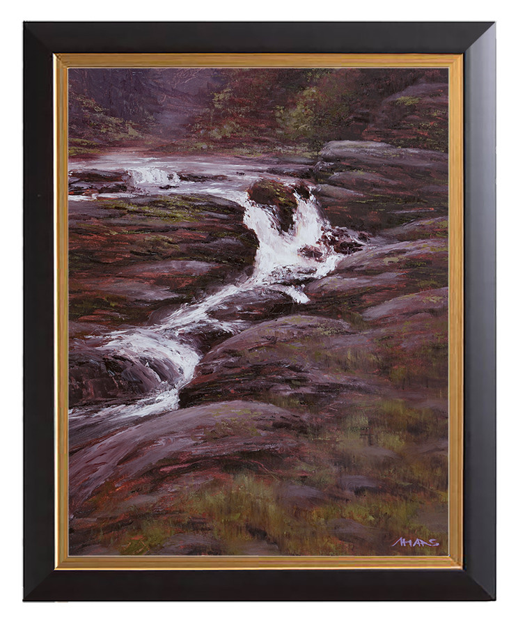 Arthur haas waterfall ib framed small
