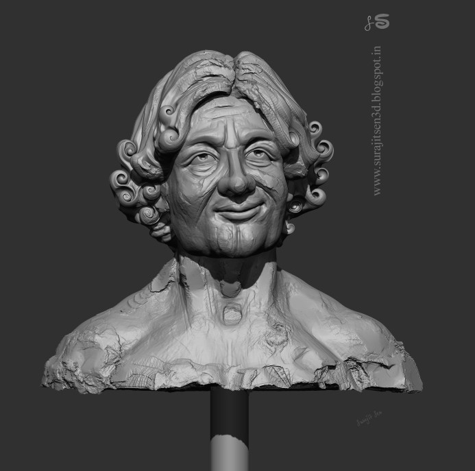 "My speed sculpt study. ...""Ayush"". 