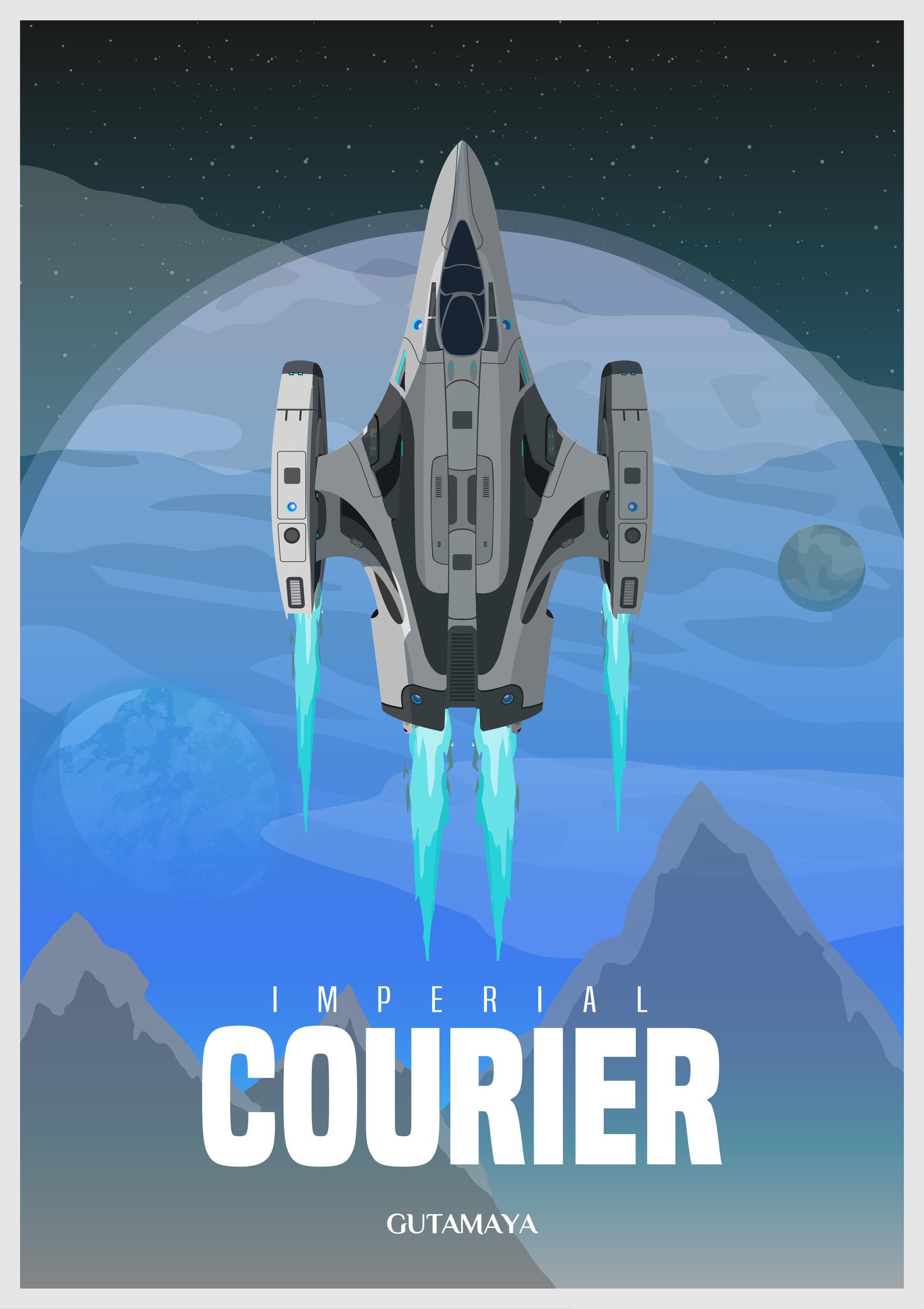 mathew maddison portfolio elite dangerous imperial courier poster