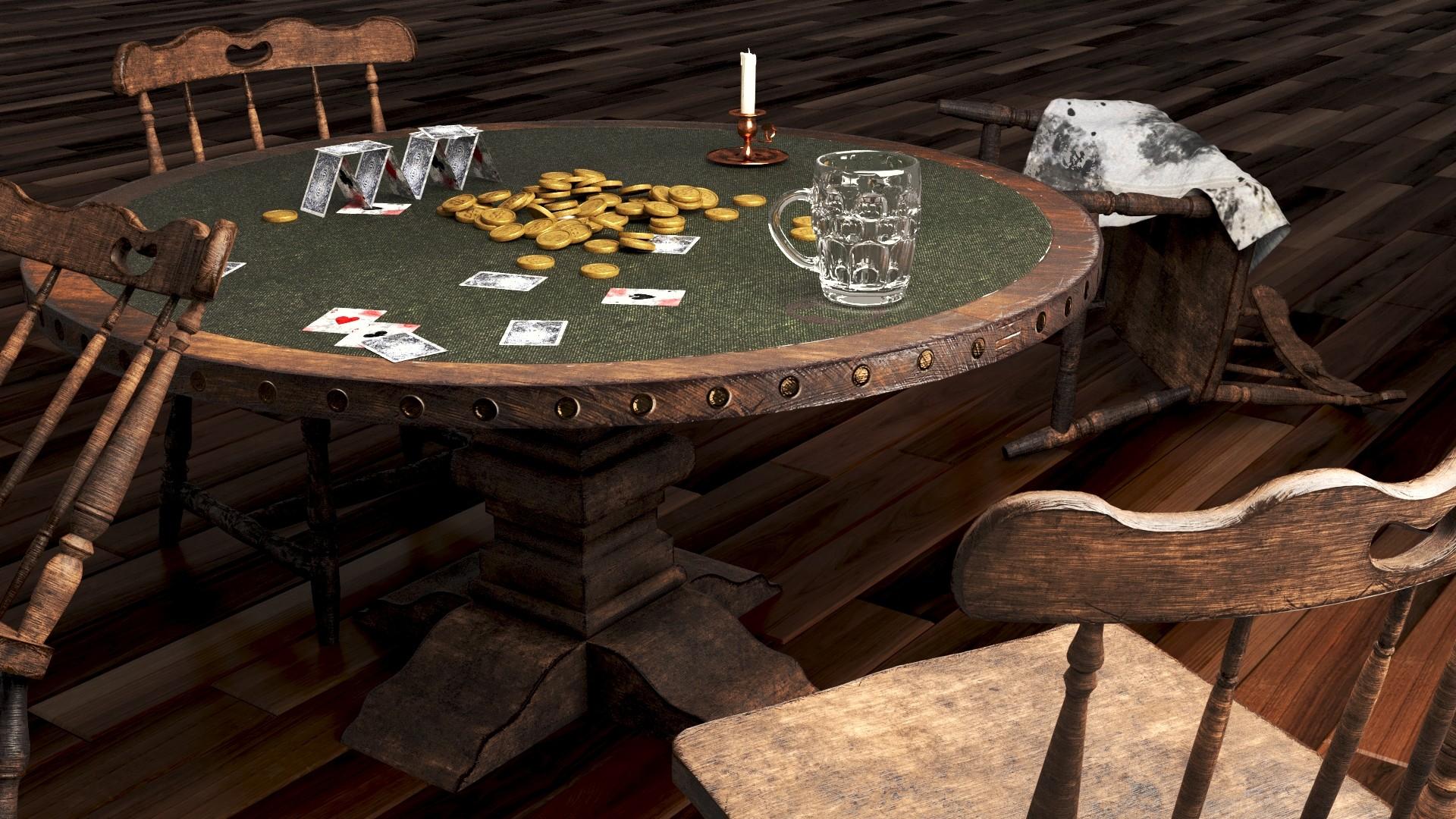 western saloon scene