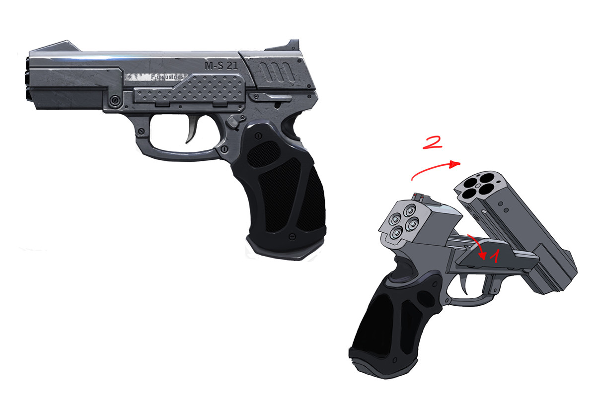 Quentin Gautier's portfolio - Metal storm gun concept - Modern Combat 4