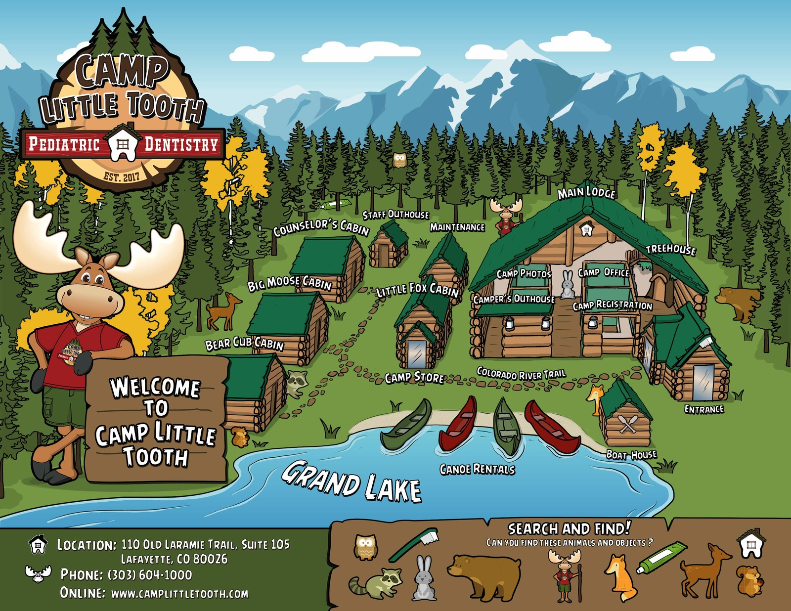 Camp Little Tooth office map