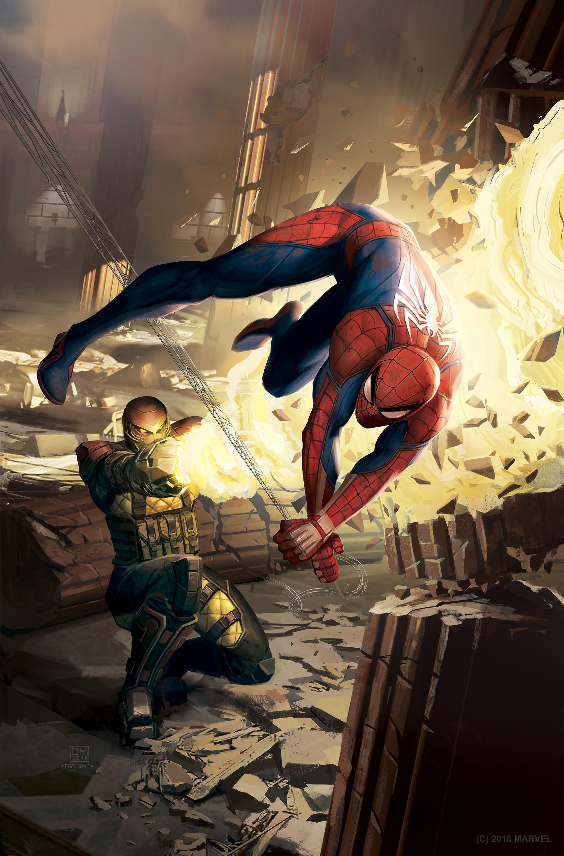 Daryl mandryk spidermanps4cover