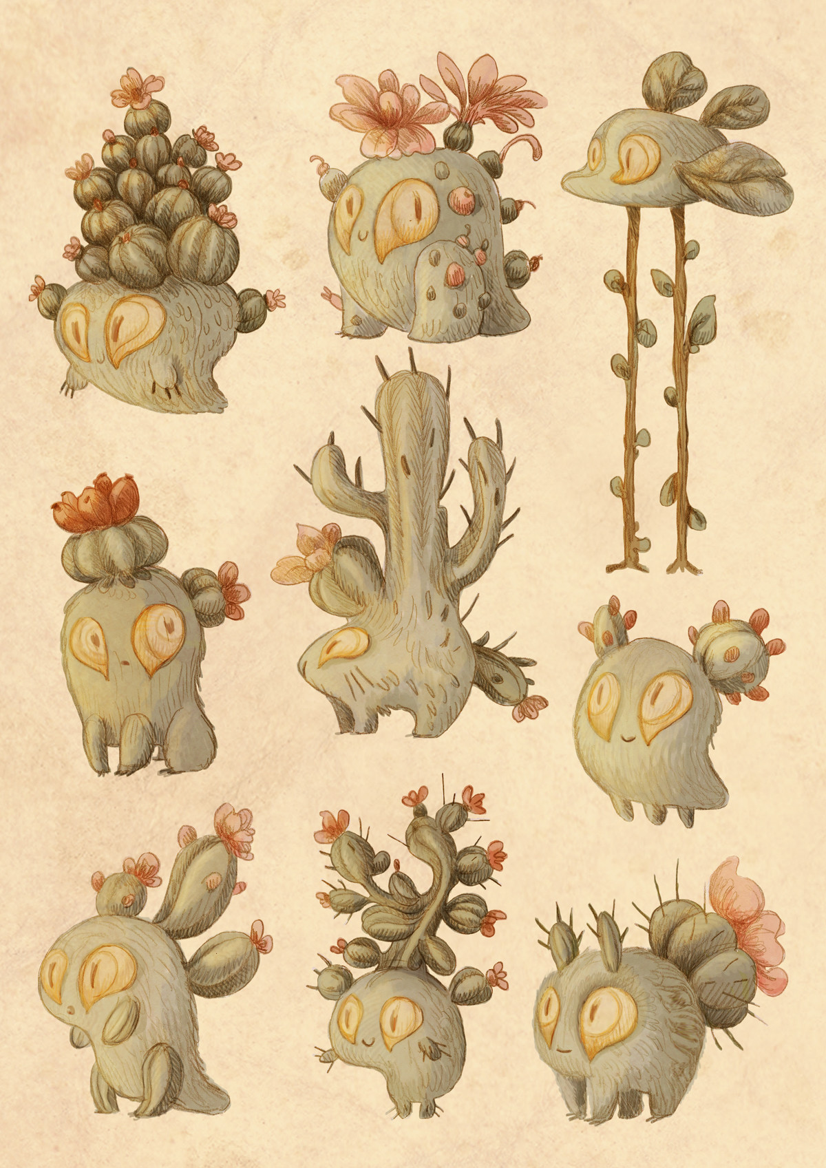 Stephanie leon planche cactus simple