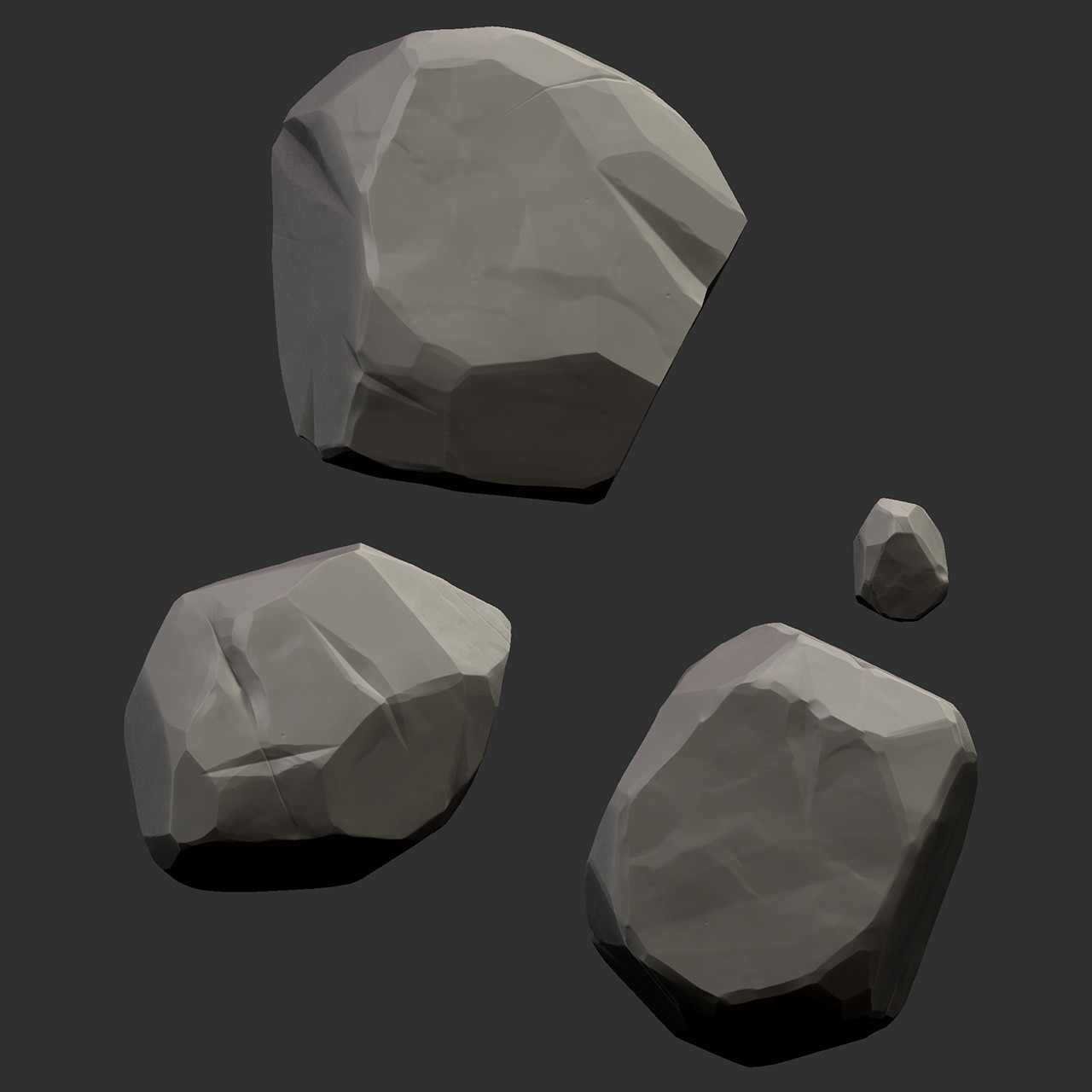 Rock sculpts from Zbrush