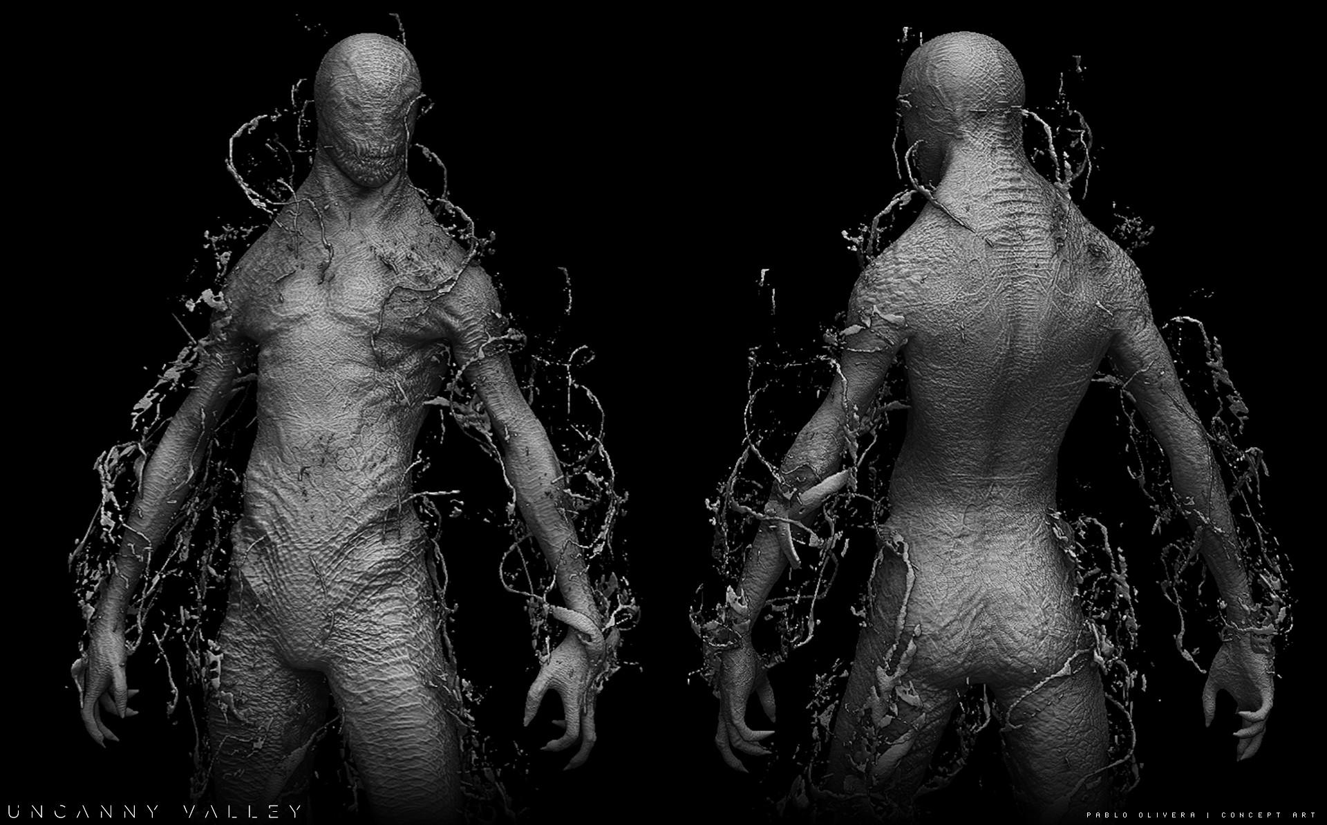 Pablo olivera alien renders concept art digital sculpt 02