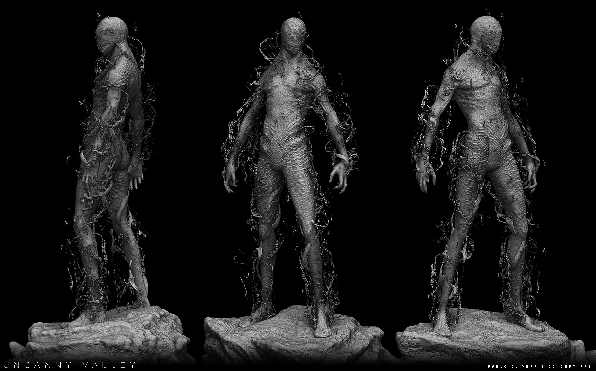 Pablo olivera alien renders concept art digital sculpt 04
